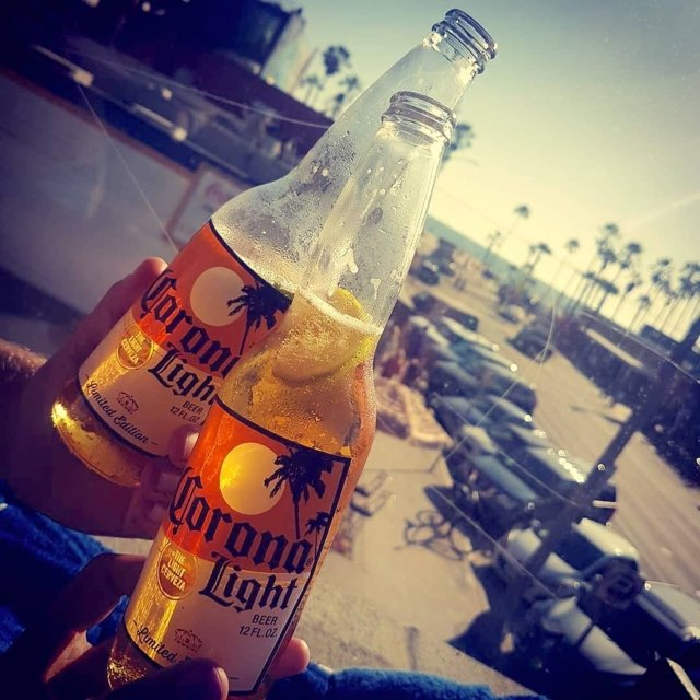 Cheers to Corona and the beach!