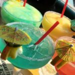 36oz Mega Margaritas made with Patron and available in any flavor!
